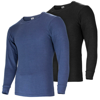 Black Snake® Mens Thermal Undershirt ringel